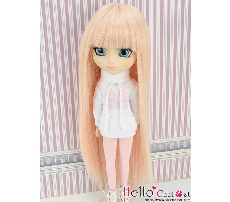 Wig Long Straight Pink & Gold