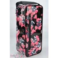 Carrier Bag Bow Cats Black