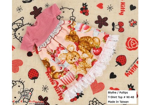 Coolcat Dress Pink Bear