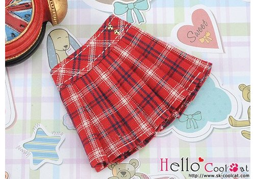 Coolcat Accordion Mini Short Skirt Stripe Red