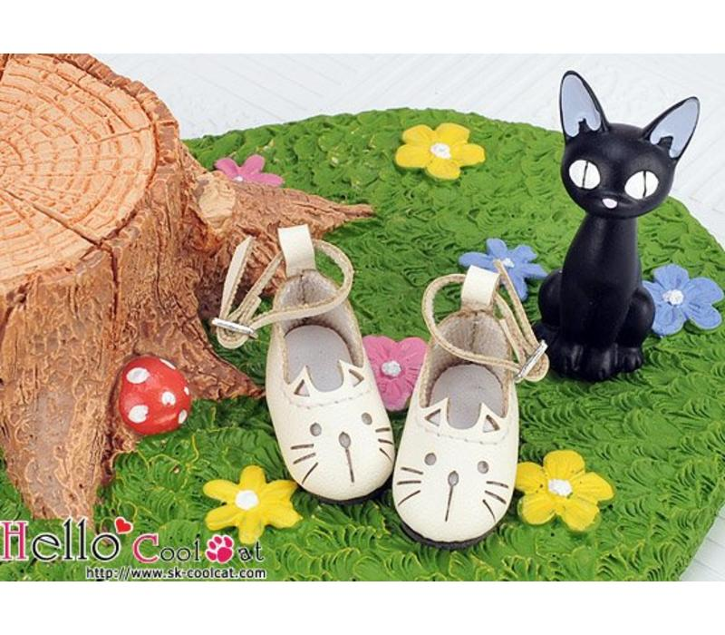 Cute Cats Mini Shoes White