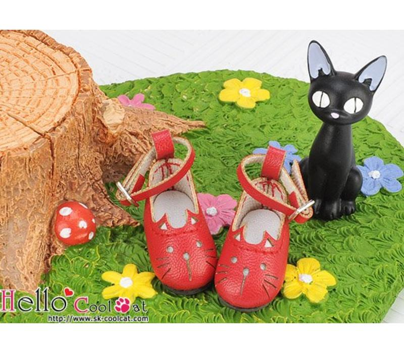 Cute Cats Mini Shoes Red