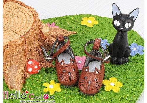 Coolcat Cute Cats Mini Shoes Brown