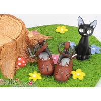 Cute Cats Mini Shoes Brown