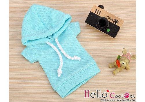 Coolcat Hoodie Top Short Sleeves Aqua
