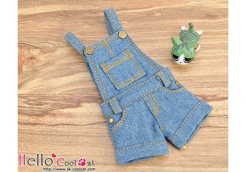 Coolcat Denim Overalls Shorts Blue
