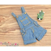 Denim Overalls Shorts Blue