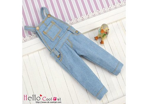 Coolcat Denim Bib & Brace Overalls Faded Blue