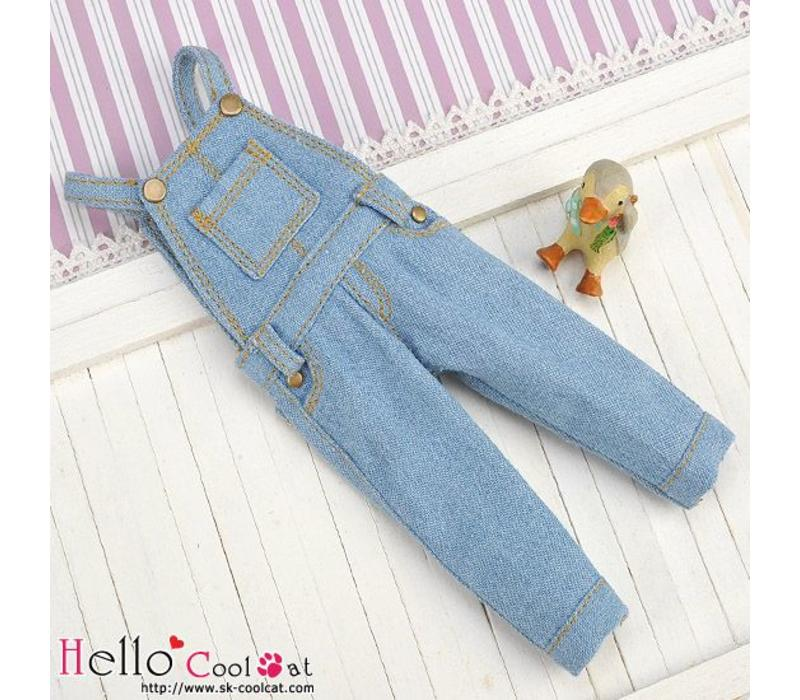 Denim Bib & Brace Overalls Faded Blue