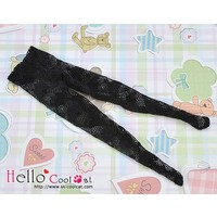 Pantyhose Socks Net Black Heart