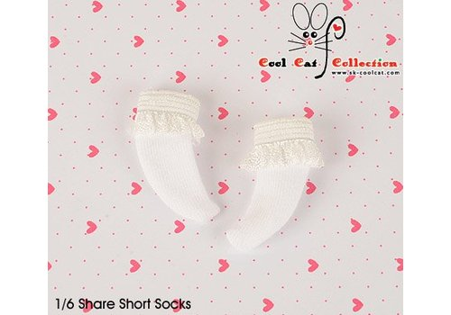 Coolcat Lace Top Ankle Socks White