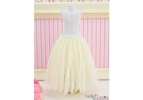 Coolcat Long Tulle Ball Skirt Beige (Dot)