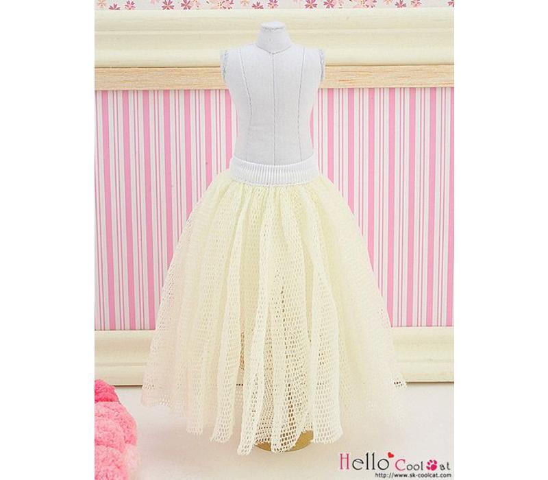 Long Tulle Ball Skirt Beige (Dot)