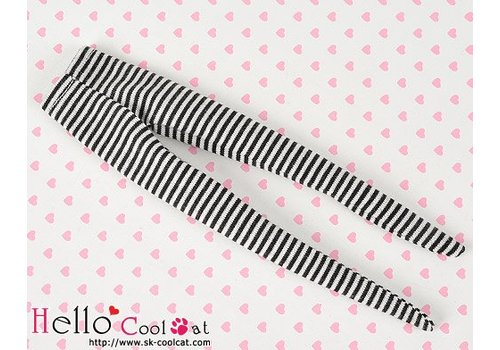 Coolcat Pantyhose Socks Thin Stripe Black + White