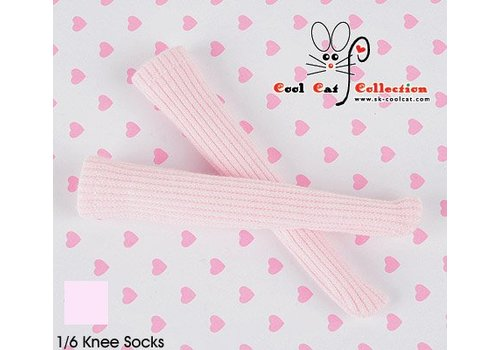 Coolcat Knee Lace Socks Pale Pink