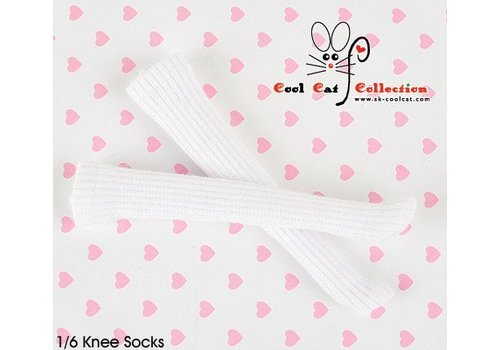 Coolcat Knee Lace Socks White
