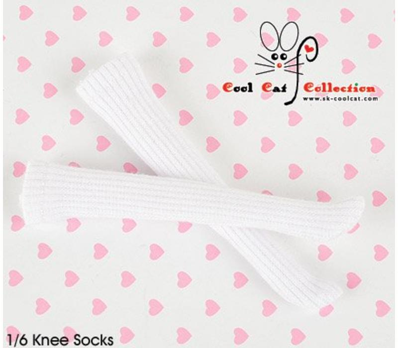 Knee Lace Socks White