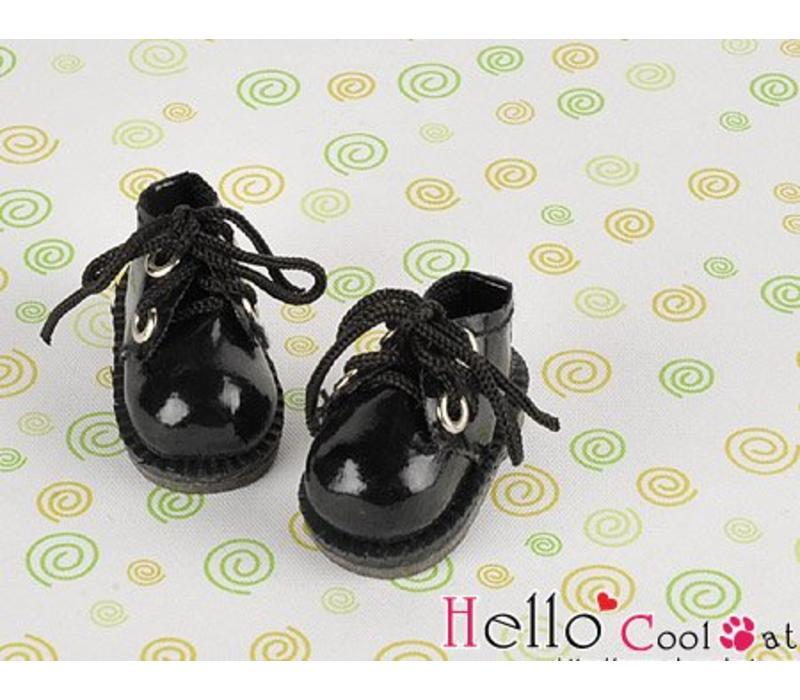 Shoes Mini 2 Holes Shiny Black