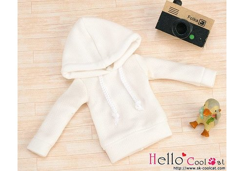 Coolcat Hoodie Top Long Sleeves White