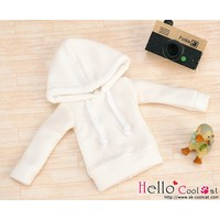 Hoodie Top Long Sleeves White