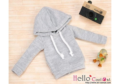 Coolcat Hoodie Top Long Sleeves Grey