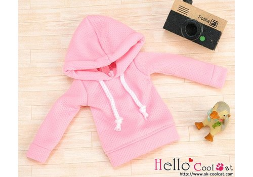 Coolcat Hoodie Top Long Sleeves Pink
