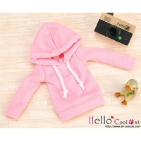 Hoodie Top Long Sleeves Pink