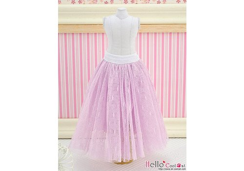 Coolcat Long Tulle Ball Skirt Purple (Dot)