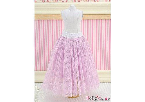 Coolcat Long Tulle Ball Skirt Purple (Dot)