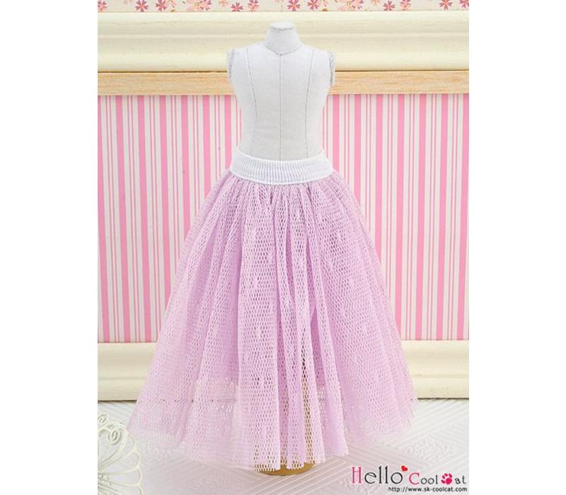 Long Tulle Ball Skirt Purple (Dot)