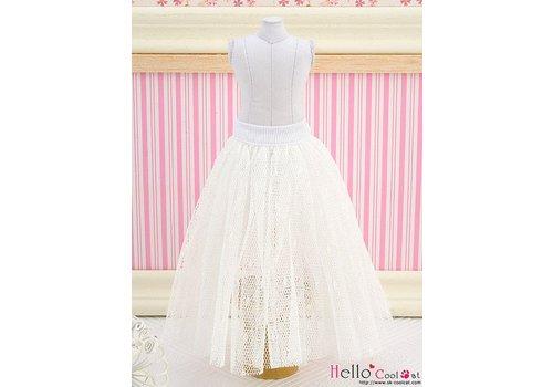 Coolcat Long Tulle Ball Skirt White (Dot)