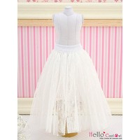 Long Tulle Ball Skirt White (Dot)