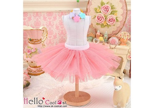 Coolcat Tulle Ball Mini Skirt Hot Pink