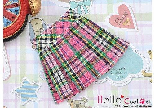 Coolcat Accordion Mini Short Skirt Stripe Pink