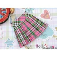 Accordion Mini Short Skirt Stripe Pink
