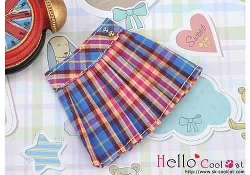 Coolcat Accordion Mini Short Skirt Stripe Blue