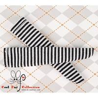 Knee Socks Thin Stripe Black+White