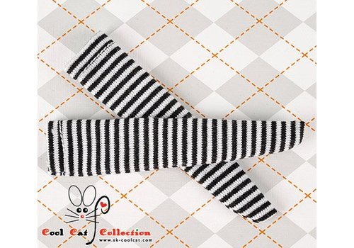 Coolcat Knee Socks Thin Stripe Black+White