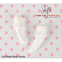 Lace Top Ankle Socks White