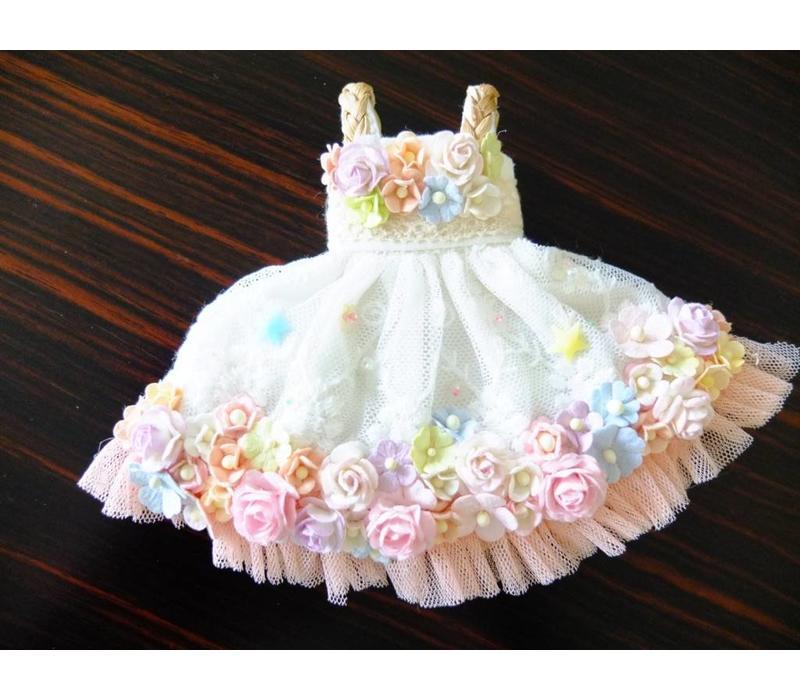 Secret Flower Dress Pink Tulle