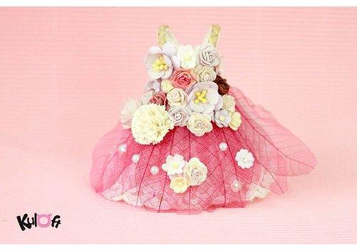 Kuloft Secret Flower Dress Bright Pink