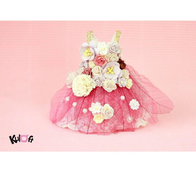Secret Flower Dress Bright Pink