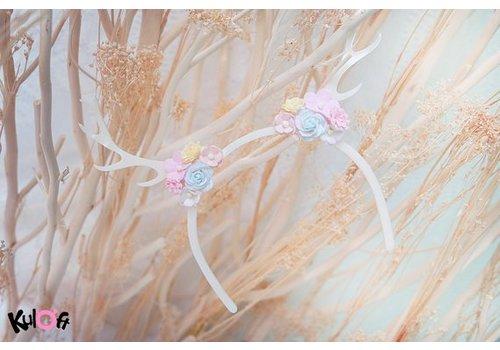 Kuloft Hairband Deer Flowers On Sides
