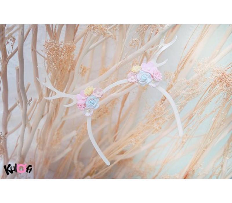 Hairband Deer Flowers On Sides