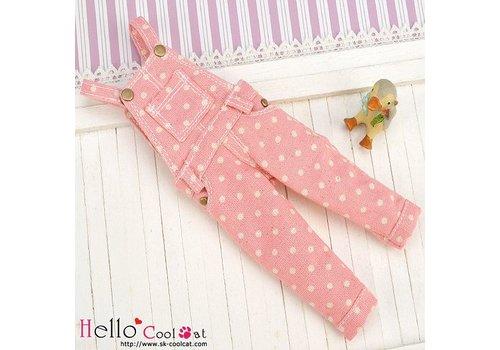 Coolcat Denim Bib & Brace Overalls Pink Dot