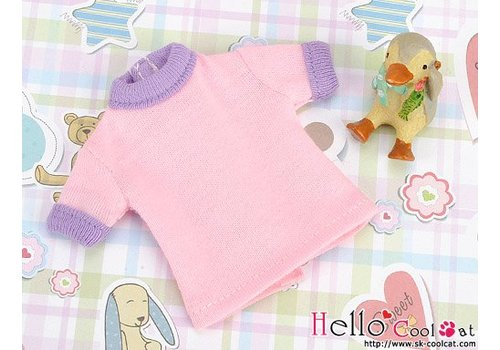 Coolcat Short Sleeve Tee Pink & Purple