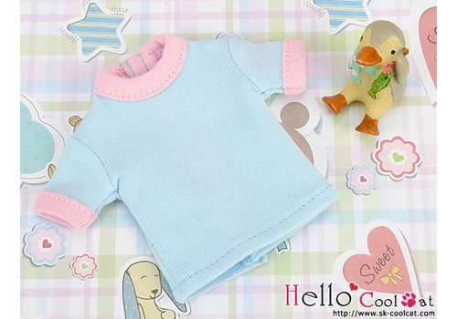 Coolcat Short Sleeve Tee Sky Blue & Pink