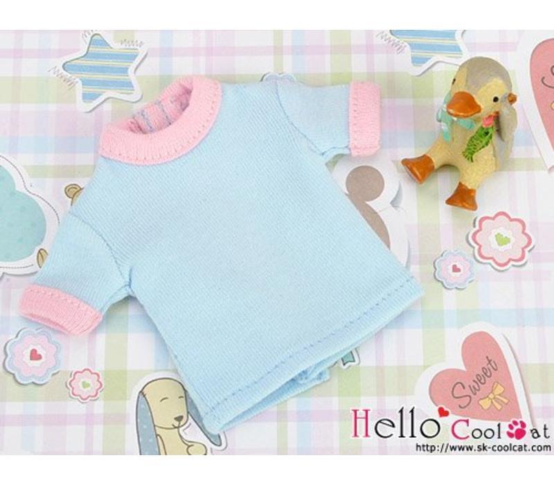 Short Sleeve Tee Sky Blue & Pink