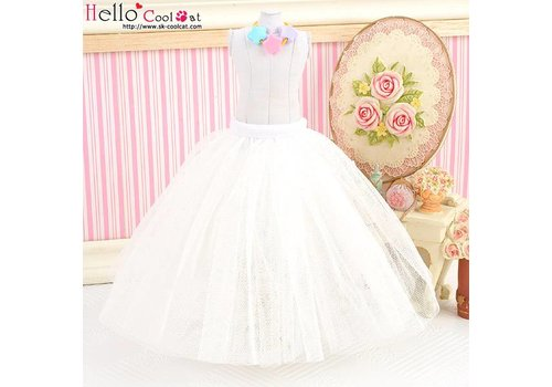 Coolcat Long Tulle Ball Skirt White