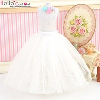 Long Tulle Ball Skirt White